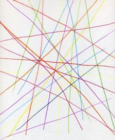 Waldorf ~ 5th grade ~ Form Drawing ~ Freehand Geometry ~ #1 Draw lines that intersect arbitrarily ~ main lesson book
