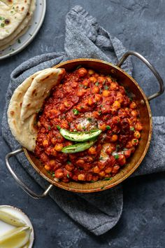 This authentic restaurant style chana masala recipe is incredibly easy to make and so flavorful and delicious. Serve it with basmati rice and garlic naan.