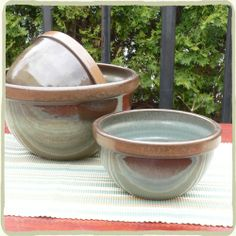 Rowe Pottery Works mixing bowls, $31.95-$116.30 (Made in Cambridge, Wisconsin) #madeinusa #madeinamerica