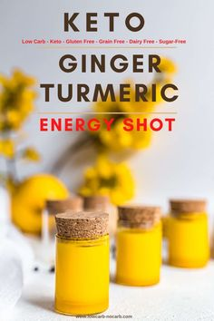 Ginger Turmeric Energy Shot Recipe for your regular Immunity Boost prepared in less than 5 minutes out of 5 powerful ingredients. Fully Sugar-Free Low Carb Gluten-Free and Keto those Wellness Shots will load you up with energy like no others. Healthy Juices, Health And Nutrition, Healthy Drinks, Health Tips, Healthy Man, Nutrition Store, Nutrition Guide, Nutrition Education, Turmeric Shots