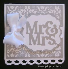 Cricut Artiste Wedding Card