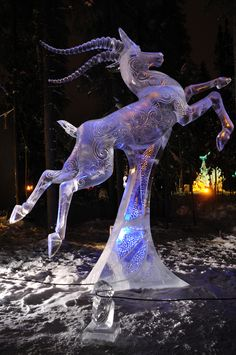 """""""Chasing the Wind"""" Ice Sculpture"""