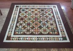 """Good scrap quilt, the pattern is """"Shiloh"""" by Bonnie Blue Quilts, designed by Paula Barnes"""