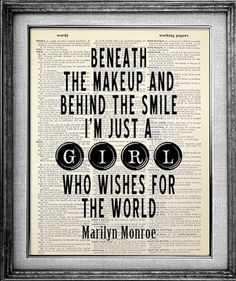 Marilyn Monroe Quote Dictionary Art Print