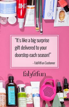 Open a world of possibilities with FabFitFun! Each season, the FabFitFun box is stacked with premium, full-size beauty, fashion, and fitness products to keep you inspired, healthy, and happy. With over $200 worth of beauty products inside, see why we're the #1 full-size box and sign up today!