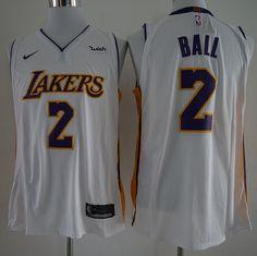 17-18 New Lakers 2 Baller White Nike Player size S M L XL XXL XXXL Best 2a8ffc6e2