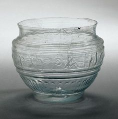 Roman glass bowl from workshop of Ennion, 1-50 A.D. J. Paul Getty museum More At FOSTERGINGER @ Pinterest ⛵️❤️️