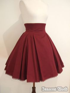 Love the square corners of the circle skirt.