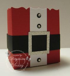 Santa Fancy Favour Box - use an empty cereal box
