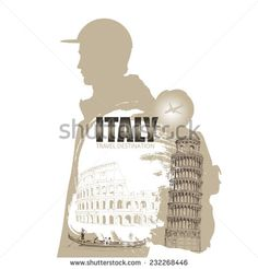 travel posters. travel Italy poster background, vector illustration