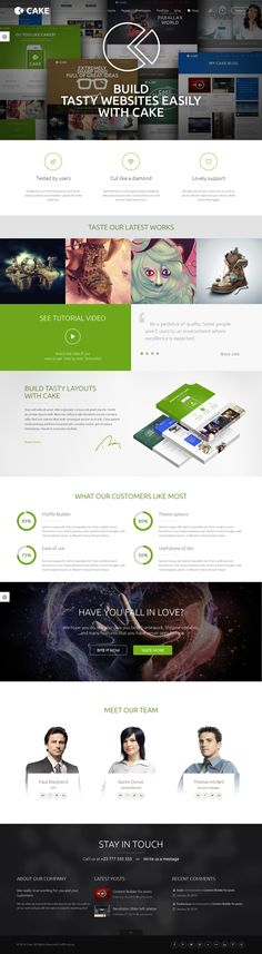 Cake - 1 Theme  ∞ Possibilities by WordPress Design Awards, via Behance