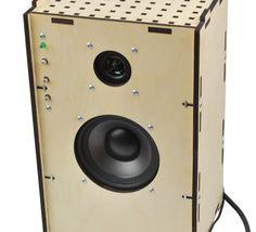DIY laser cut speaker with amplifier