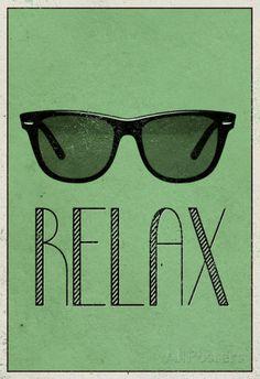 Relax retro wallpaper sunglasses