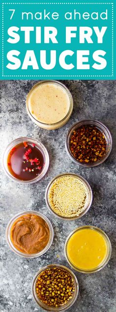 7 Stir Fry Sauces you can make ahead and freeze, plus tips for making freezer stir fry packs. Meal prep made easy!