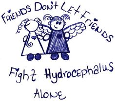 Friends don't let friends fight hydrocephalus alone. I tried to make the girl on the left look like she had a shunt <3