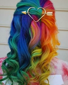 Image discovered by Catherine. Find images and videos about fashion, style and hair on We Heart It - the app to get lost in what you love. Cute Hair Colors, Pretty Hair Color, Hair Dye Colors, Exotic Hair Color, Vivid Hair Color, Pelo Multicolor, Aesthetic Hair, Dye My Hair, Rainbow Hair