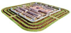 Roman Castrum - Biriciana (Germany) - Reconstruction
