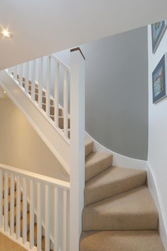 ​dormer loft conversion wandsworth : Modern corridor, hallway & stairs by nuspace Home Design, Home Stairs Design, Attic Design, Interior Stairs, Design Ideas, Modern Stairs Design, Loft Conversion Stairs, Loft Conversion Design, Loft Conversions