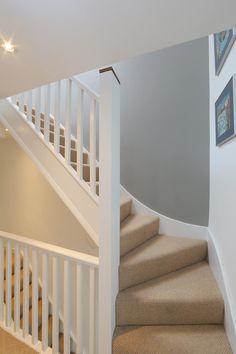 dormer loft conversion wandsworth : Modern corridor, hallway & stairs by nuspace Home Design, Home Stairs Design, Design Café, Interior Stairs, Design Ideas, Loft Conversion Stairs, Loft Conversion Design, Loft Conversions, Attic Conversion With Dormer