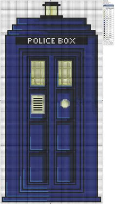 Doctor Who – TARDIS cross stitch