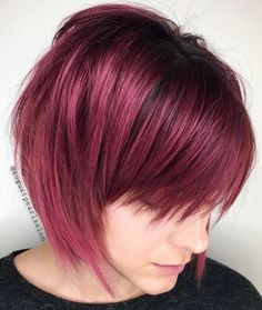 Berry bob with jagged layers