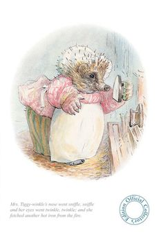 Limited Edition Print by #BeatrixPotter: Mrs. Tiggy Winkle went Sniffle, Sniffle