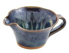American Made Stoneware Pottery Mixing Bowl with Handle in Midnight Blue (Mini Size 12 oz) ... (This is an affiliate link) #mixingbowls