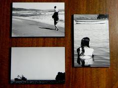 fotos sacadas por mi, impresas en papel fotografico billante de 20x30 cm sobre madera de 15mm