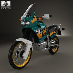 Honda XRV750 Africa Twin 1993 3d model from Humster3D.com.