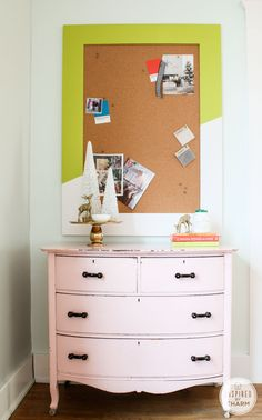 DIY Colorful Bulletin Board via Inspired by Charm