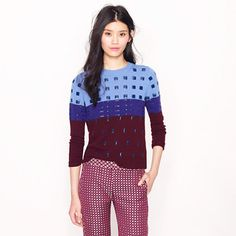 Collection beaded colorblock sweater - sweaters - Women's new arrivals - J.Crew