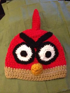 Red bird - angry bird flappy bird beanie made to order #Christmasgifts #babygifts