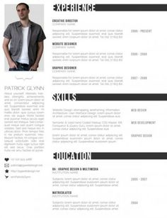 1000+ images about Photoshop Resume Templates on Pinterest ...