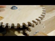 Most people think of gears as big pieces of metal, but for a long time gears were mostly wooden affairs. In this video you& learn how to make small wooden gears that you can use in all sorts of complicated machinery oriented woodworking projects. Wooden Gear Clock, Wooden Gears, Learn Woodworking, Woodworking Projects, Popular Woodworking, Woodworking Videos, Woodworking Plans, Diy Wood Projects, Wood Crafts