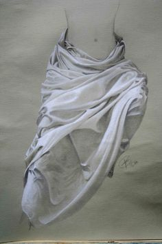 Drawing Drapery Drapery Drawing, Figure Drawing, Fine Art, Prints, Ballet Shoes, Dance Shoes, Sketches, Paper Art, Painting