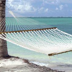 Have to have it. Island Bay Executive XXL Rope Hammock - $89.98 @hayneedle.com