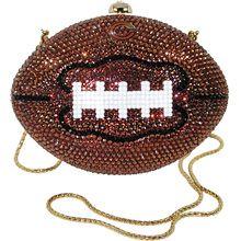 Kathrine Baumann Chicago Bears Mini Jeweled Football Purse - NFLShop.com
