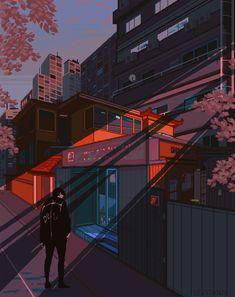 Risultato immagini per purple cian aesthetic Aesthetic Japan, City Aesthetic, Aesthetic Anime, Pixel Gif, Cyberpunk Anime, Vaporwave Wallpaper, Animation Storyboard, 8bit Art, Vaporwave Art