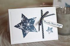 Weihnachtskarte Stern Framelits Stampin Up