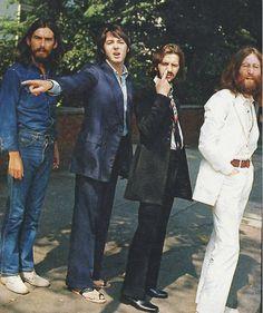 Fotos mostram os bastidores da capa de disco Abbey Road dos Beatles