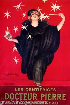 Dentifrices Docteur Pierre Girl White Smile Stars Cappiello Vintage Poster Repro | eBay