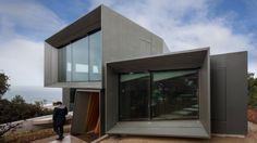 Modernes Wohnhaus-an Der Küste-Australien Wohnubus-Zink Verkleidung-Glaswand