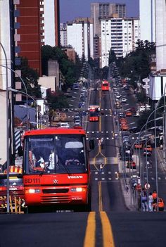 One of the city buses. Part of one of the best public transportation systems in the world.