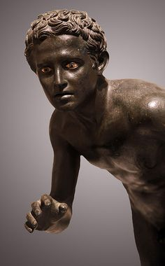 Roman Bronze Athlete from Villa Dei Papiri | copy of a Greek original 4th century BCE | Herculaneum, Italy