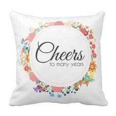 Cheers to Many Years Pillow | wedding Gift