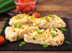 Gluten Free Ham & Cheese Scones with Chives https://glutenfreerecipebox.com/easy-gluten-free-ham-and-cheese-scones/ #glutenfree #scones #english #ham #cheese #scones