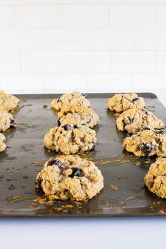 Peanut Butter Chip & Blueberry Oatmeal Breakfast Cookies   immaEATthat.com @immaEATthat