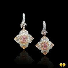 New in New York... Fancy Intense Pink diamond earrings, just out the workshop, contact any of our Novel North America offices for details. NY-e240 #novelcollectionny #NovelCollection
