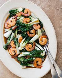 This 15-minute meal is a delicious medley of stir-fried shrimp, bok choy, and homemade teriyaki sauce.