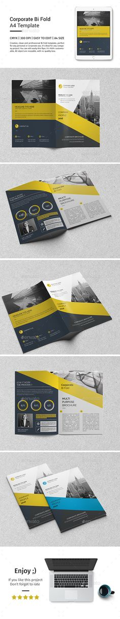Corporate Bi-fold Brochure Template PSD. Download here: http://graphicriver.net/item/corporate-bifold-brochure-template-04/15531774?ref=ksioks